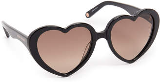 Henri Bendel Lovelies Heart Sunglasses
