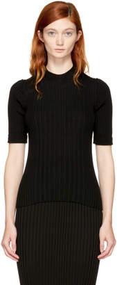 Maison Margiela Black Half Sleeve Crewneck Pullover