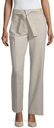 Liz Claiborne Belted Wide Leg Pant - Tall Inseam 34.5