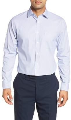 Nordstrom Trim Fit Non-Iron Stripe Dress Shirt