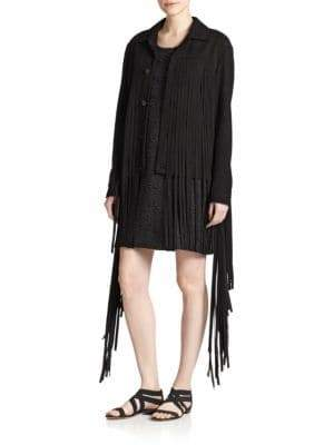 Of Two Minds Suede Fringe Jacket