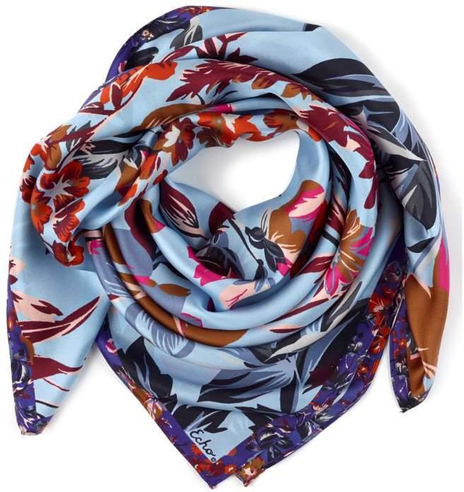 Echo Design Echo Highgate Floral Square Silk Scarf