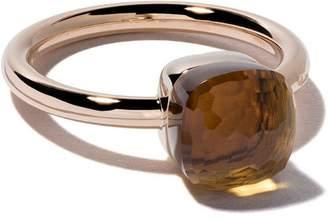 Pomellato 18kt rose & white gold small Nudo citrine quartz ring