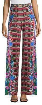 Saloni Wide Leg Printed Trousers