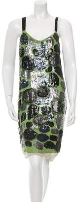 Vera Wang Sequined Patterned Dress w/ Tags $495 thestylecure.com