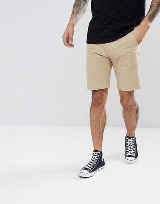 Farah Hawk Chino Twill Shorts in Light Sand