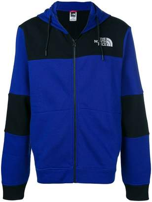The North Face logo colour block hoodie