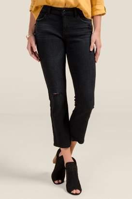 francesca's Harper Heritage Mid Rise Black Boot Cut Jeans - Black