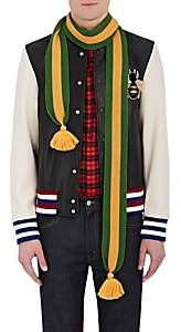 Gucci Men's Striped Wool Scarf - Grass Green, Yellow