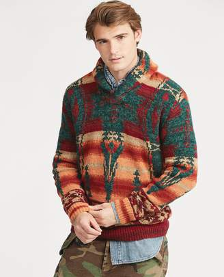 Ralph Lauren Southwestern Shawl Sweater