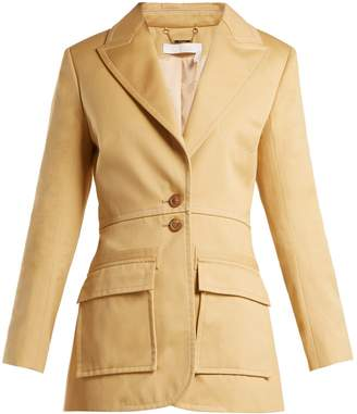 Chloé Single-breasted cotton-gabardine blazer