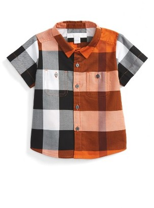 Infant Boy's Burberry Camber Check Woven Shirt $110 thestylecure.com