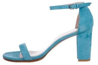Stuart Weitzman Ankle-Strap Suede Sandals