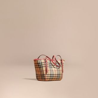 Burberry The Mini Canter In Horseferry Check $850 thestylecure.com