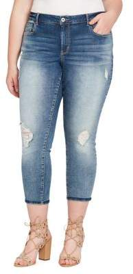 Jessica Simpson Plus Forever Rolled-Ankle Jeans