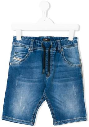 Diesel drawstring denim shorts