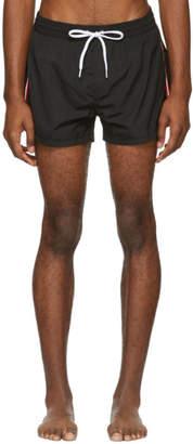 Diesel Black Striped BMBX-Sandy Swim Shorts