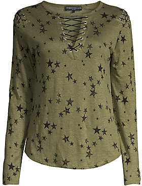 Generation Love Women's Valentina Lace-Up Star Tee