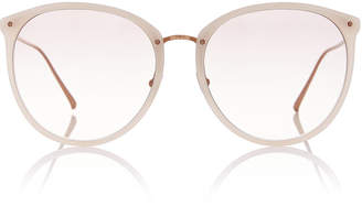 Linda Farrow Titanium Acetate Oversized Sunglasses
