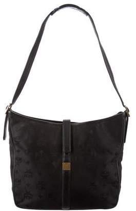 MCM Leather-Trimmed Shoulder Bag