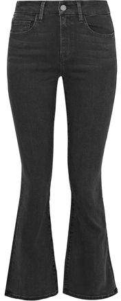 Iris & Ink Rebecca High-Rise Kick-Flare Jeans