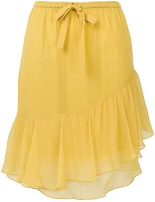 See by Chloe asymmetric frill skirt