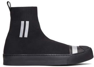 Neil Barrett Black Sock Skater High-Top Sneakers