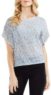 Vince Camuto Printed Drop-Shoulder Top