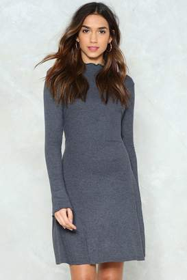 Nasty Gal Flounce Back Ribbed Dress