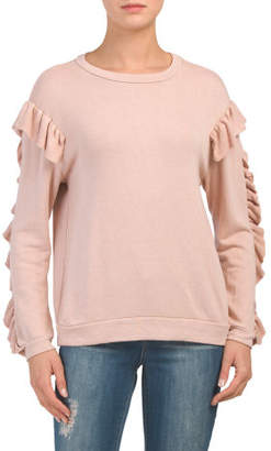 Juniors Made In Usa Mineral Wash Terry Sweatshirt