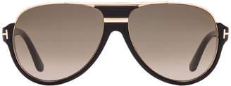 Tom Ford Ft0334 Dimitry Black Pilot Sunglasses