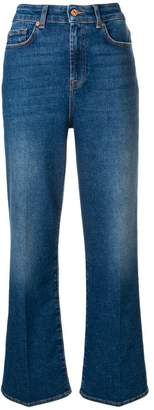 7 For All Mankind flared high waisted jeans