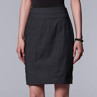 Vera Wang Women's Simply Vera Modern Seamed Pencil Skirt