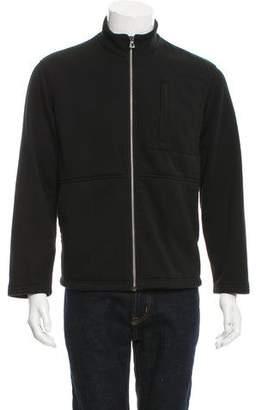 James Perse Zip-Front Felted Jacket