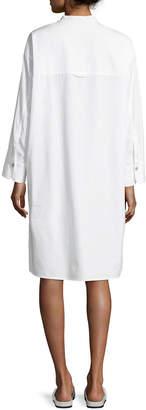 Vince Utility Cotton Long-Sleeve Shirt Dress