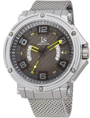 Joshua & Sons JX132 Silver Tone Casual Quartz Watch With Stainless Steel Strap [JX132YL]
