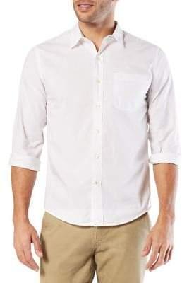 Dockers Premium Edition Slim-Fit Laundered Poplin Cotton Button-Down Shirt