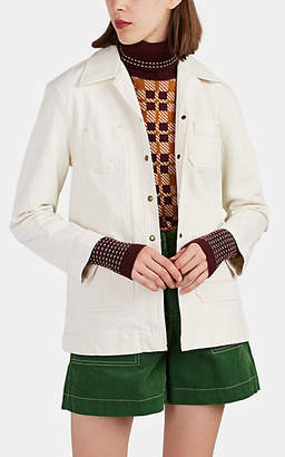 Land of Distraction Women's Jay Cotton Work Jacket - White