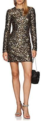 Dolce & Gabbana Women's Leopard-Print Sequin Cocktail Dress