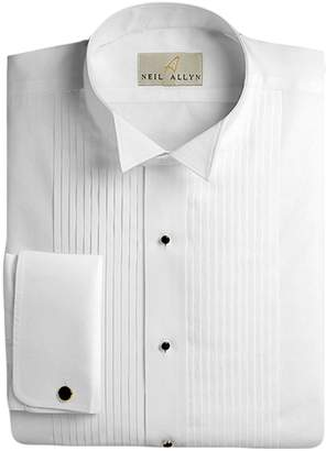 4568303a Neil Allyn Men's Tuxedo Shirt 100% Cotton 1/4