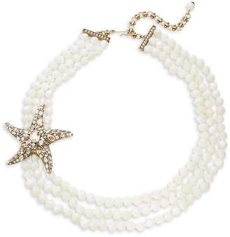 Heidi Daus Women's Crystals, Brasstone Necklace