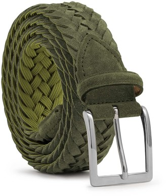 Dalgado Braided Suede Belt Green Vincenzo