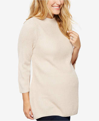 Design History Maternity Three-Quarter-Sleeve Sweater $88 thestylecure.com