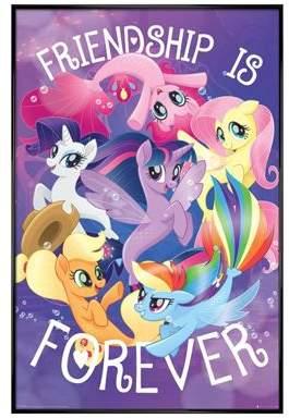 My Little Pony Movie Gloss Black Framed Friendship Is Forever Poster 61 X 91.5Cm