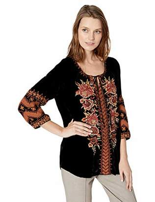 Johnny Was JWLA By Women's Embroidered Peasant Blouse
