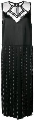 Fendi embellished satin dress