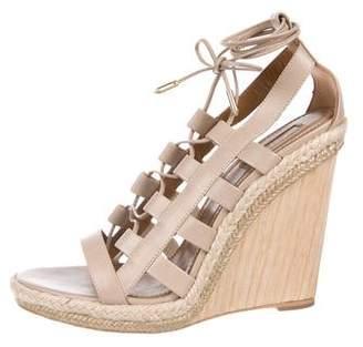 Aquazzura Lace-Up Sandal Wedges