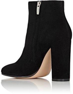 Gianvito Rossi Women's Razor Suede Ankle Boots-BLACK