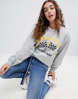 Daisy Street relaxed sweatshirt with vintage print