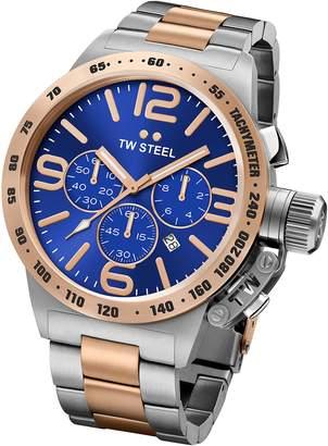 TW Steel Men's 45mm Two Tone Steel Bracelet Steel Case Quartz Watch Cb143